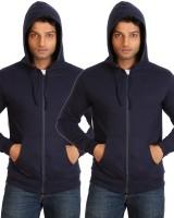Campus Sutra Full Sleeve Solid Men Fleece Jacket