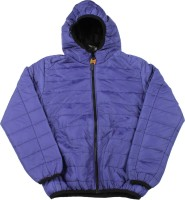 Us Polo Kids Full Sleeve Self Design Boys Quilted Jacket