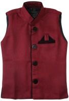 Globe Sleeveless Solid Boys Linen Nehru  Linen Jacket