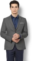 Van Heusen Solid Single Breasted Formal Men Blazer(Grey)