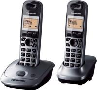 View Panasonic KX-TG2522 Cordless Landline Phone with Answering Machine(metallic) Home Appliances Price Online(Panasonic)