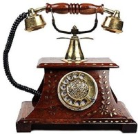 View Worthy Shoppee Rosewood Antique Operational Telephone Maharaja Style Corded & Cordless Landline Phone(Brown) Home Appliances Price Online(Worthy Shoppee)