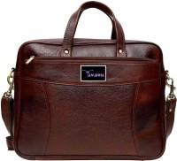 View Tamanna 16 inch Expandable Laptop Messenger Bag(Brown) Laptop Accessories Price Online(Tamanna)