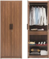 Durian ROBINSON Engineered Wood 2 Door Wardrobe(Finish Color - Walnut)