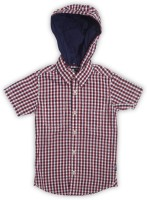 Flying Machine Boys Checkered Casual Red, White, Blue Shirt
