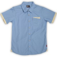 Flying Machine Boys Solid Casual Light Blue Shirt