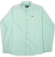 Flying Machine Boys Solid Casual Light Green Shirt