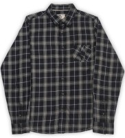 Flying Machine Boys Checkered Casual Black, Grey Shirt