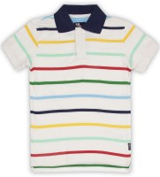 Flying Machine Boys Striped Cotton T Shirt(Multicolor, Pack of 1)