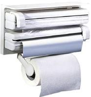 Italish Triple Paper Dispenser & Holder For Cling Film Wrap Aluminium Foil And Kitchen Roll 1 Paper Dispenser