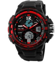 Skmei Analog Digital Multifuction Premium Sports Watch for Men and Boys, Red Watch  - For Men