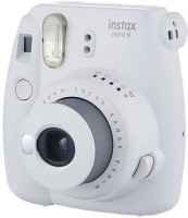 Fujifilm Instax Mini 9 Deluxe Camera Bundle - White (Mini 9 Camera   Leather Camera Case   40 Shot Film   64 Album   Marker Pen   Self-Portrait Mirror Instant Camera(White)