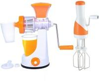 Incredible Master juicer & Beater for fruits and vegetables Non-Electric 0 Juicer(Orange, 1 Jar)