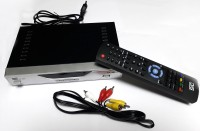 STC DTH Mpeg-4 Free To Air HD Set Top Box H-103 (2 USB PORT + 1 HDMI PORT) Life Time Free Plug and Play Satellite Radio