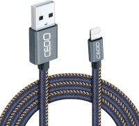 CEDO Branded iOS Compatible 1m long Jeans Cloth Denim Original Certified Tough Lightning 8 Pin USB Data Cable for iPhone, iPad and iPod, Super fast charging up to 2.4Amps. USB Cable(Blue)