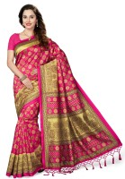 Ishin Printed Bhagalpuri Art Silk Saree(Pink)