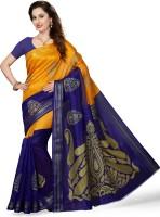 Ishin Woven Bhagalpuri Art Silk Saree(Blue)