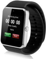 MOBILE FIT son.y compatible bluetooth smartwatch with camera,sim-card slot and memory card slot Silver Smartwatch(Black Strap Free Size)