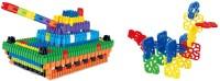 Krypton Presents Plastic Bullet Blocks & Geometric Snowflakes Interlocking Building Set 3D Bullet Puzzle Creative Bricks Toy Set for Children Kids(Multicolor)