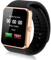 MOBILE FIT son.y compatible bluetooth smartwatch with camera,sim-card slot and memory card slot Gold Smartwatch(Black Strap Free Size)