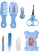 SYGA Premium Quality 8 Pcs Health Care Kit for Newborn Baby Kids Nail Hair Thermometer Grooming Brush - Blue(Blue)