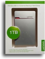 View Lenovo 1 TB External Hard Disk Drive(Silver, External Power Required) Price Online(Lenovo)