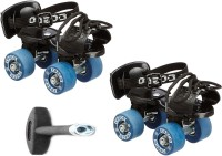 Cosco Zoomer Jr. (16.5 - 19.5 cm) Age Group (3 - 6 Years) Quad Roller Skates - Size 8 - 11 UK(Blue)