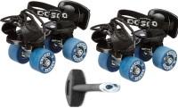 Cosco Tenacity Super Quad Roller Skates - Size Suitable for 4 to 7 years ( Kids ) Quad Roller Skates - Size Shoe 16.6 cms to 18.6 cms, 8.5 - 11 UK(Blue, Black)