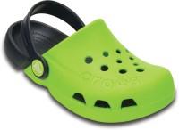 Crocs Boys & Girls Sling Back Clogs(Green)