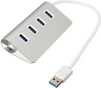 OXYURA USB 3.0 4 Port Usb Hub Power Adapter for Mac Air PC Laptop USB Adapter(Silver)