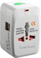 rr design 2 Usb Travel Universal Adapter (AU EU UK US) Good Quality International Worldwide Adaptor (White) Worldwide Adaptor(White)
