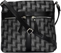 Estheticmind Sling Bag(Black, 7 L)