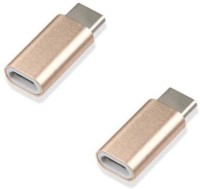 Freya micro USB to C Type Cable METAL CONVERTER PACK OF 2 USB Adapter(Multicolor)
