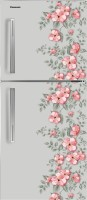 View Panasonic 268 L Frost Free Double Door Top Mount 3 Star Refrigerator(Grey Floral, NR-BC27SHX1) Price Online(Panasonic)