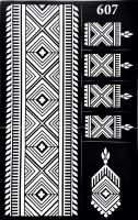 ARR Henna Stencils HS 607(HENNA DESIGN) - Price 110 45 % Off