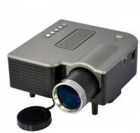 VibeX ™ Mini Video TFT LCD Metal Buttons And Lens Edge 40 lm LED Corded Portable Projector(Black)
