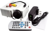 Wonder World ® GM40 Mini Home High Definition LED w/ HDMI Port 40 lm LED Corded Portable Projector(White)