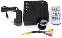 Wonder World ® GM40 HD Mini LED for Home 40 lm LED Corded Portable Projector(Black)