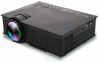 VibeX ™ UC-46 Mini Video LED HDMI Home Theater LCD TV Multimedia USB VGA 1200 lm LED Corded Mobiles Portable Projector(Black)