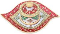 APKAMART Handicraft Marble Mukhwas Bowl & Tray Set - Decorative Serving Set for Table Decor and Gifts Bowl Tray Serving Set(Pack of 1)