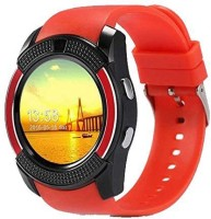 MOBILE FIT son.y compatible bluetooth smartwatch with camera,sim-card slot and memory card slot Red Smartwatch(Red Strap Free Size)