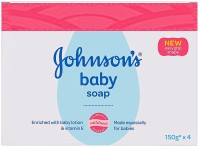 Johnson's Baby Soap (with New Easy Grip Shape) (Buy 3 Get 1 Free)(4 x 150 g)
