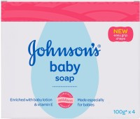 Johnson's Baby Soap(with New Easy Grip Shape) (Buy 3 Get 1 Free)(400 g, Pack of 4)
