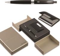 PARKER Aster Laque black Chrome (Trim + Visiting Card Holder) Ball Pen