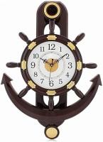 Altra Quartz Analog Wall Clock(Brown, White, With Glass)