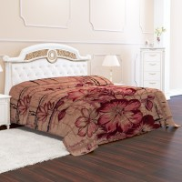 Signature Floral Double Mink Blanket(Microfiber, Multicolor)