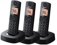 View Panasonic KX-TGC313 Cordless Landline Phone(Black) Home Appliances Price Online(Panasonic)
