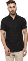 Mufti Men Solid Casual Black Shirt