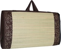 Future Lifestyle Bamboo Chatai Mat(Brown (Fabric Butter Satin), Extra Large)