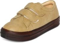MarcLoire Marc Loire Womens Beige Solid Round Toe Velcro Flats Sneakers Casual Shoes Sneakers For Women(Beige)